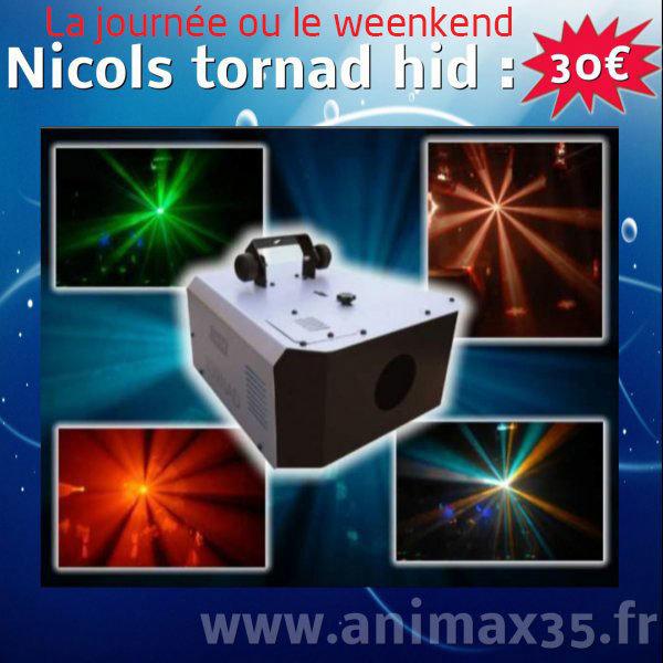 Location éclairage Nantes - Nicols Tornad hd - Bretagne