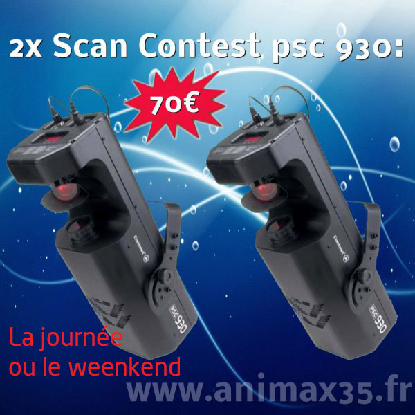 Location éclairage Nantes - 2 x Scan contest - Bretagne