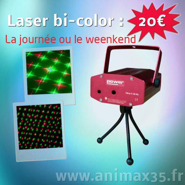 Location éclairage Nantes - laser bi-color - Bretagne