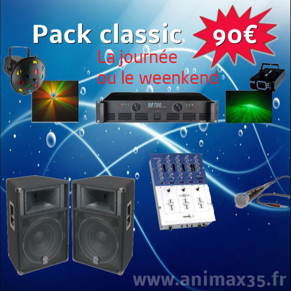 Location sono Pack Classique 90 euros - Rennes