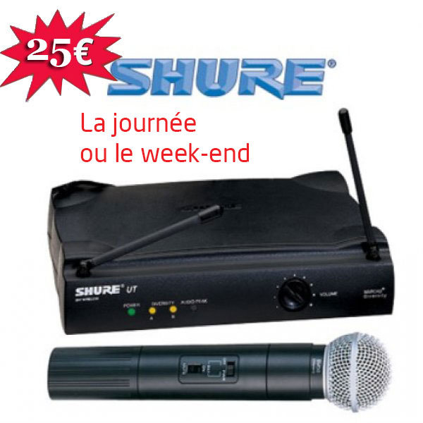 Location karaoké La Gacilly - Micro Shure HF SM
