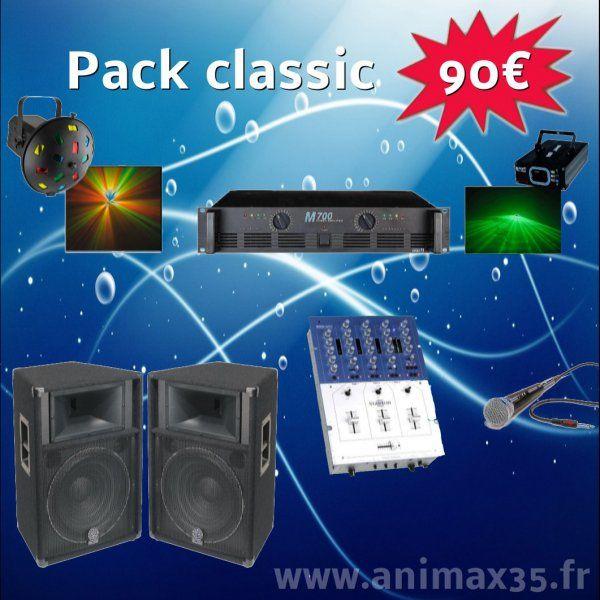 Location sono Pack Classique 90 euros - Redon