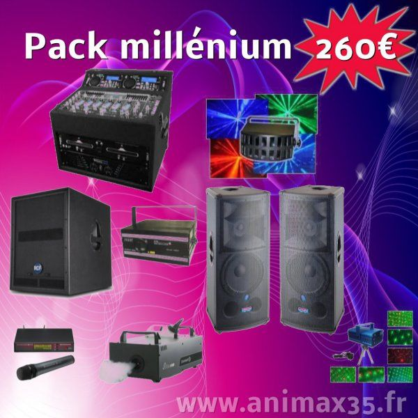 Location sono Pack Millenium 260 euros - Plélan le Grand