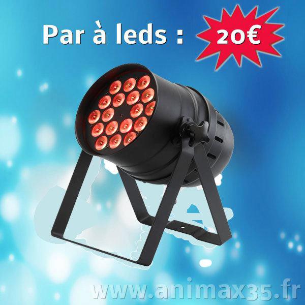 Location éclairage Nantes - par à leds - Bretagne