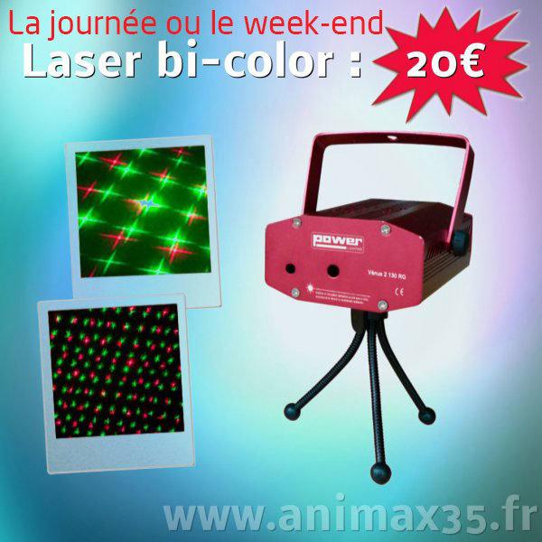 Location éclairage - laser bi-color - Rennes - Bretagne