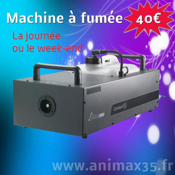 Location éclairage machine à fumée Rennes Bretagne