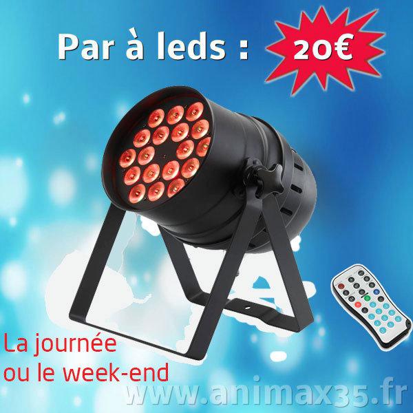 Location éclairage - par à leds - Rennes - Bretagne