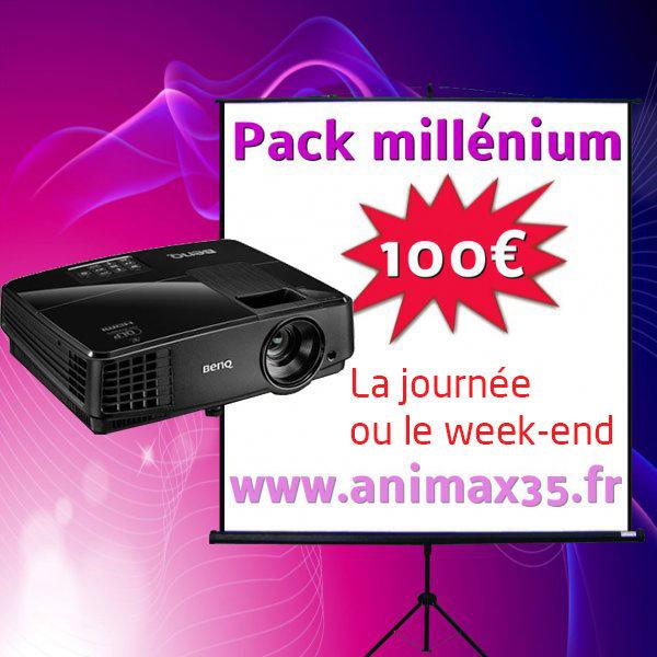 Vidéoprojecteur rennes - Pack Millenium - Animax 35