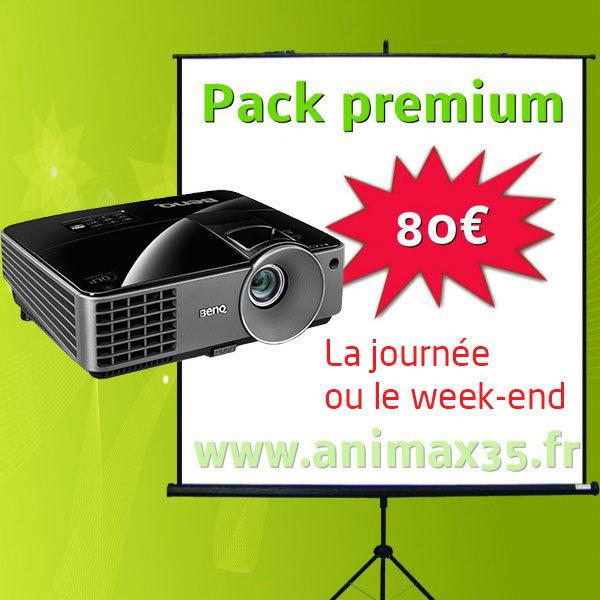 Vidéoprojecteur rennes - Pack Premium - Animax 35