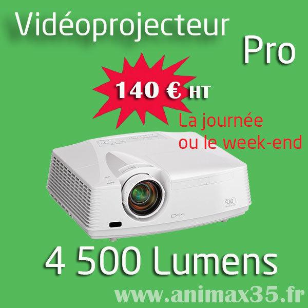 Location vidéoprojecteur Guérande - 4500 lumens - Animax35