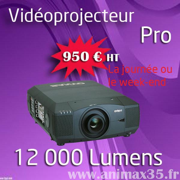 Location de vidéoprojecteur pro Saint Herblain - 12 000 lumens - Animax35