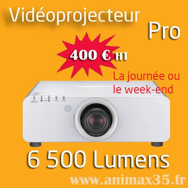Location vidéoprojecteur nantes - 6 500 lumens - Animax35