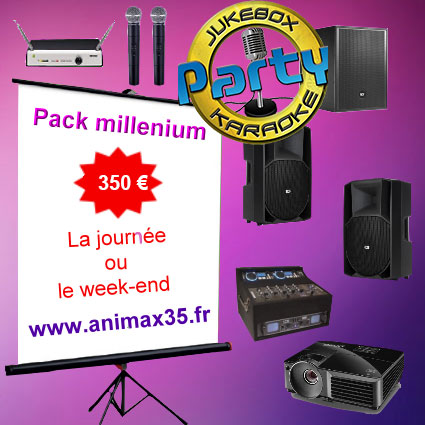 Location karaoké Saint Maugan - Pack millenium karaoké - Animax35
