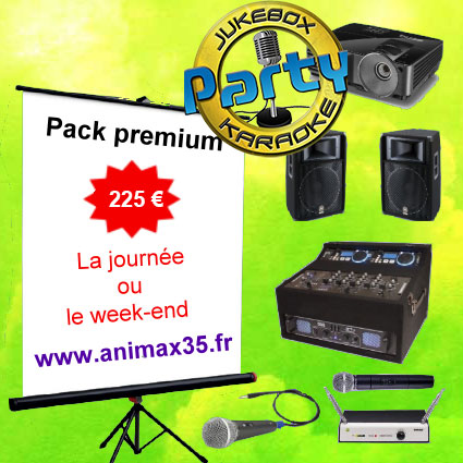 Location karaoké La Richardais - Pack premium karaoké - Animax35