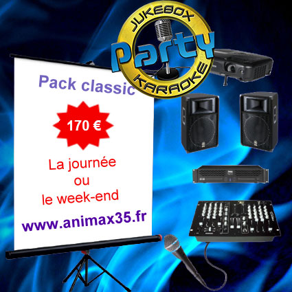 Location karaoké Saint Senoux - Pack classic karaoké - Animax35