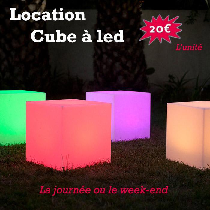Location décoration lumineuse - cube led - Rennes - Bretagne