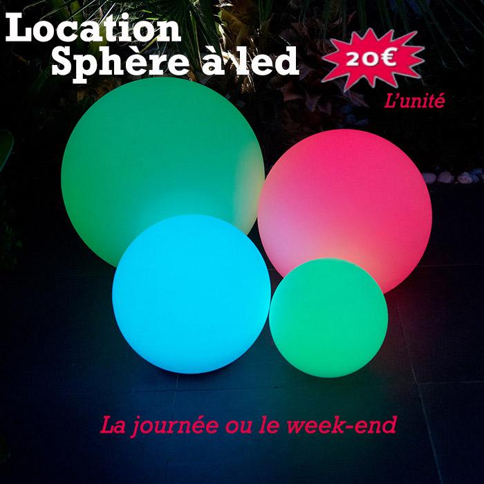 Location décoration lumineuse - sphère led - Rennes - Bretagne