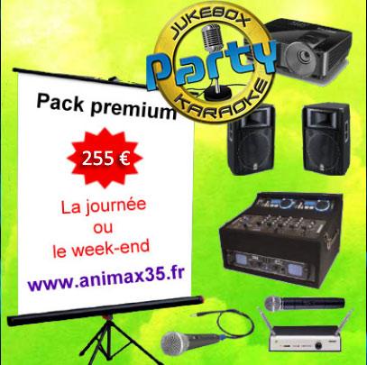 Location karaoké rennes - Pack premium karaoké - Animax35