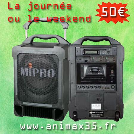 location enceinte sur batterie rennes - Animax35